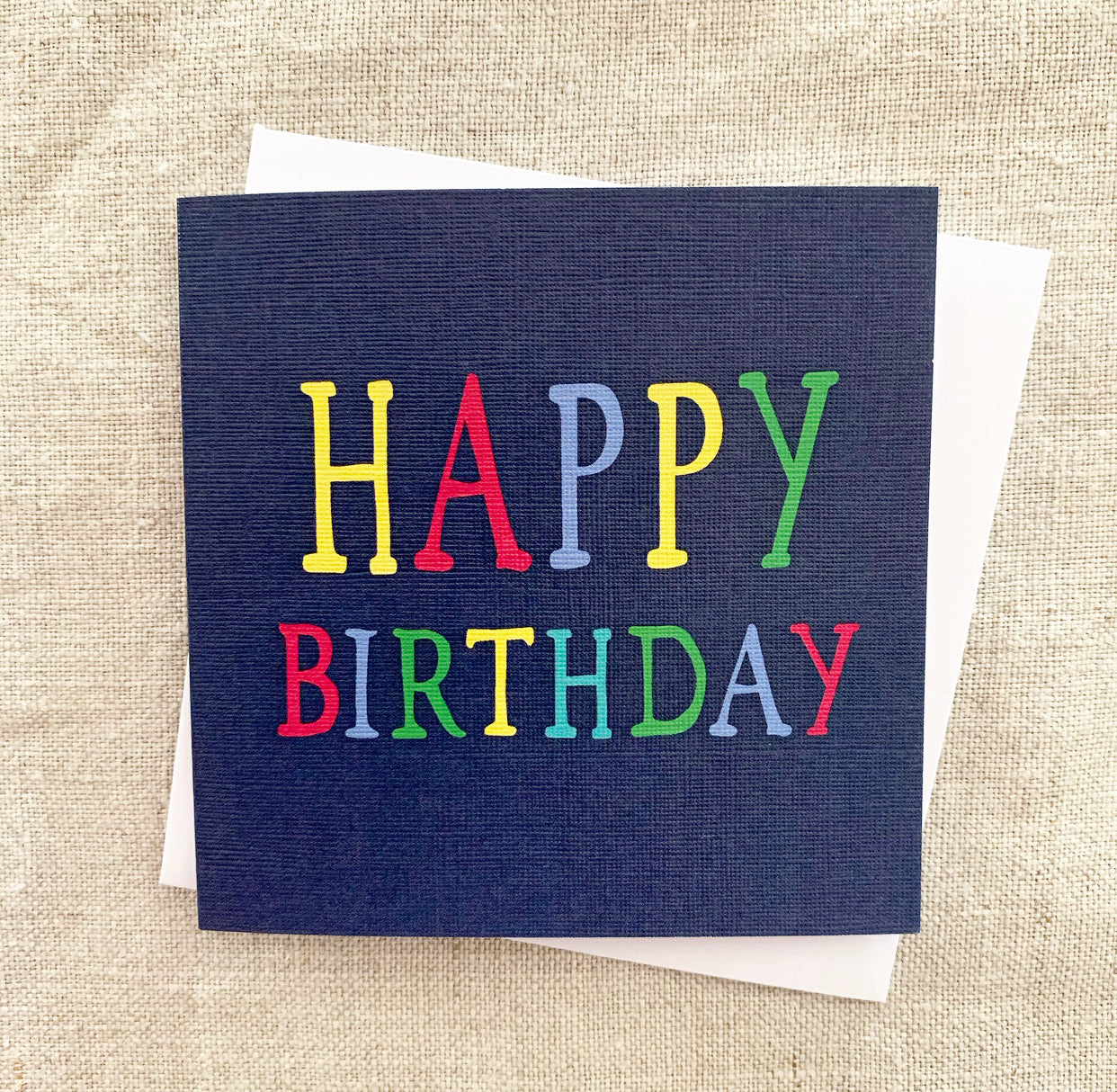 Petit Blue Rainbow Birthday Card