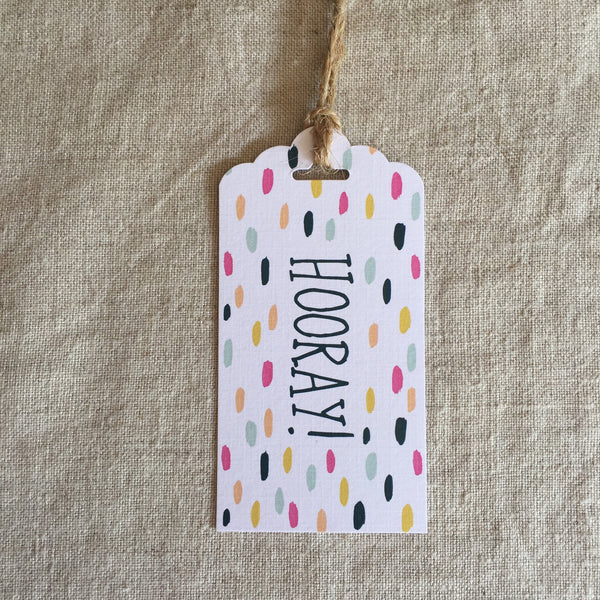 Let's Party Hooray Gift Tag
