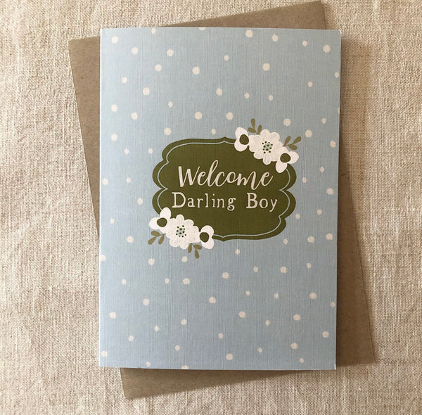 Welcome Darling Boy Card