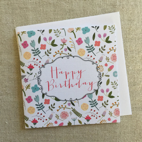 Petit Miss Tilly's Garden Birthday Card