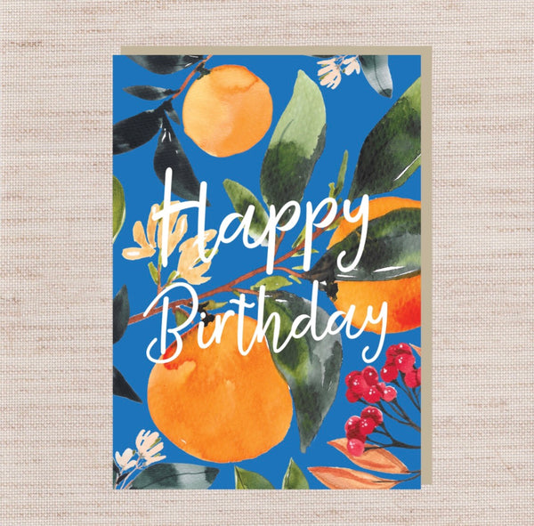 Birthday Oranges Card