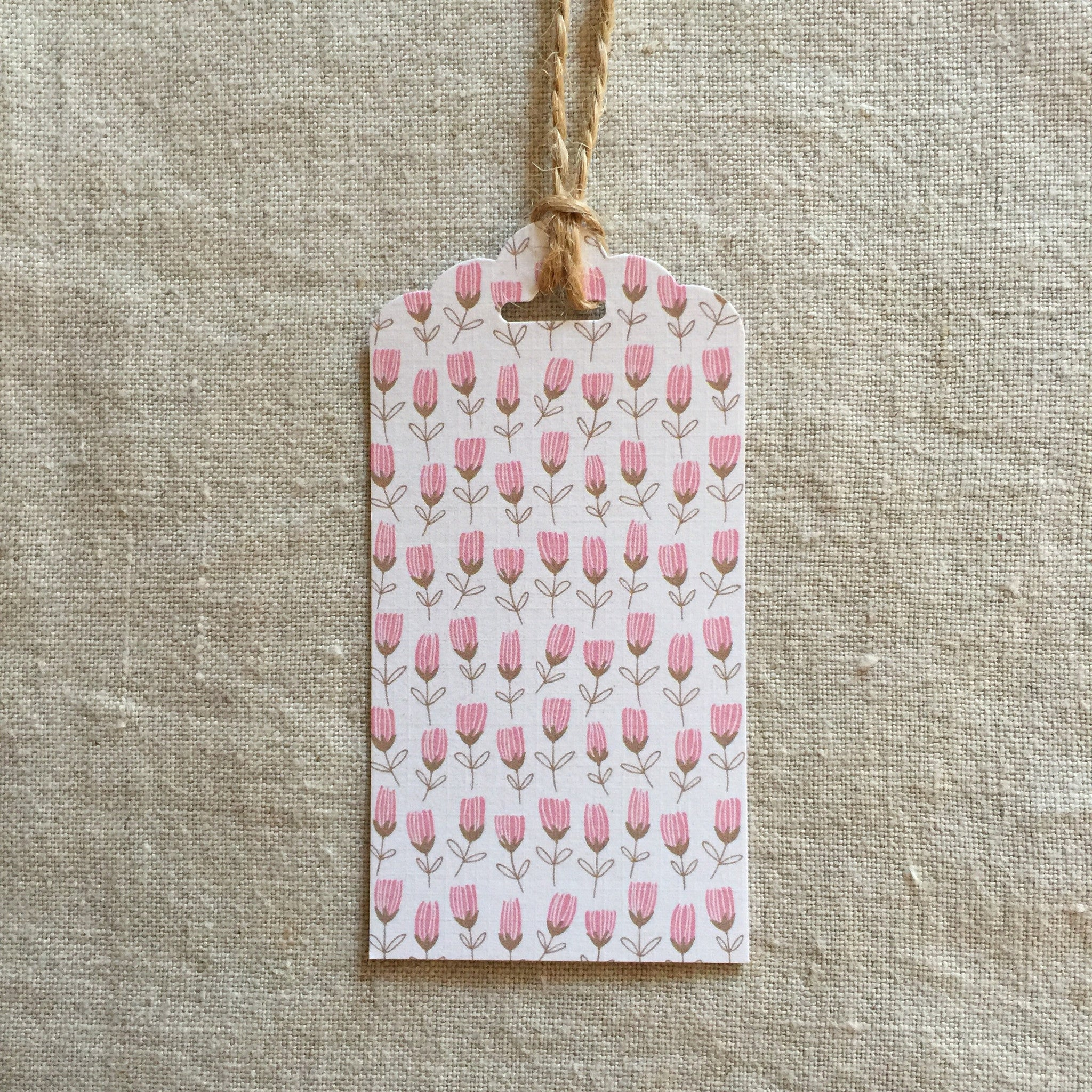 Pinky Flowers Gift Tag