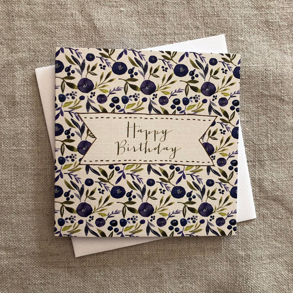 Petit Birthday Blueberry Card
