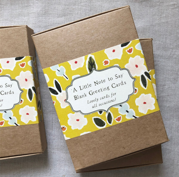 'A Little Note to Say' Blank Greeting Boxed Card Set