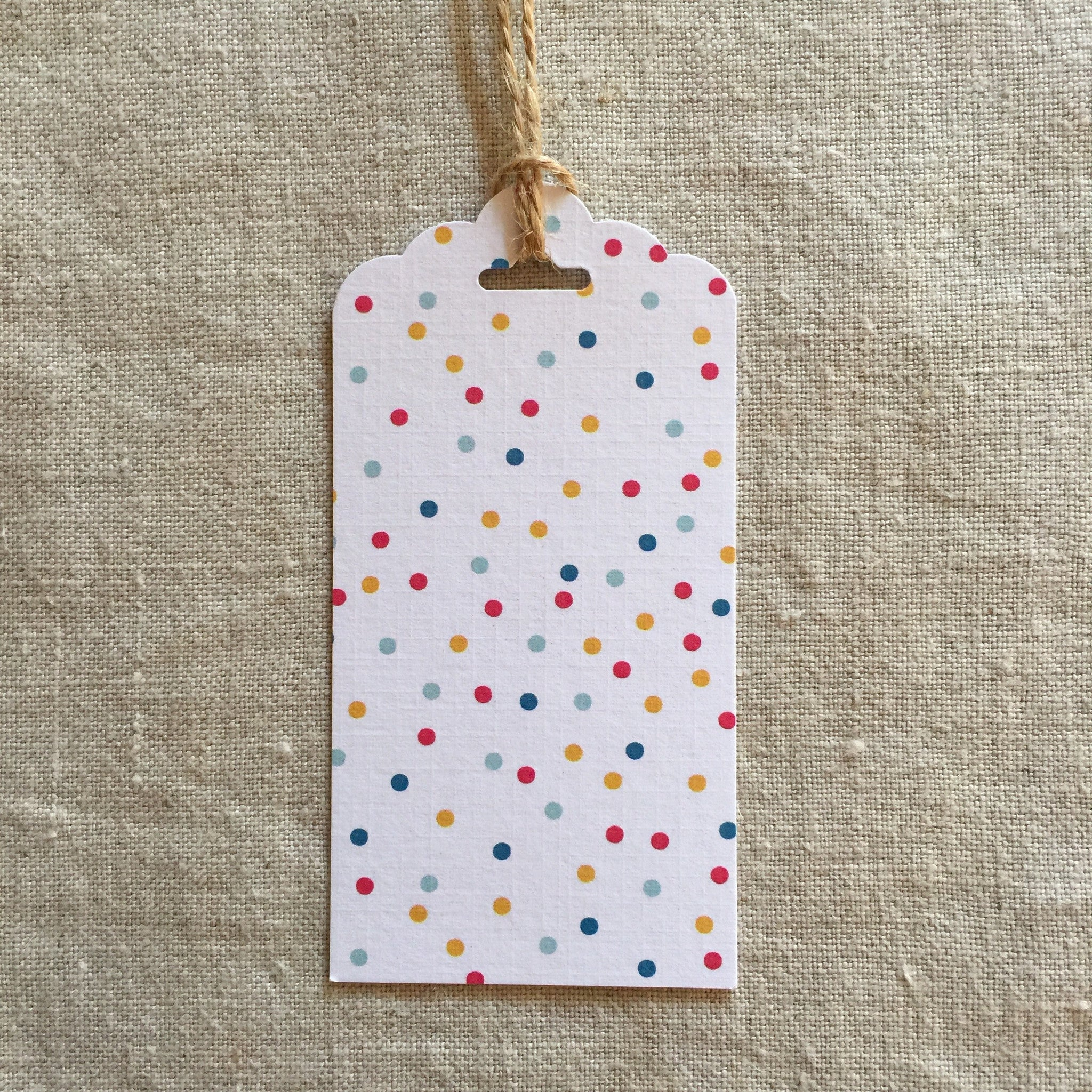 Rainbow Spots Gift Tag