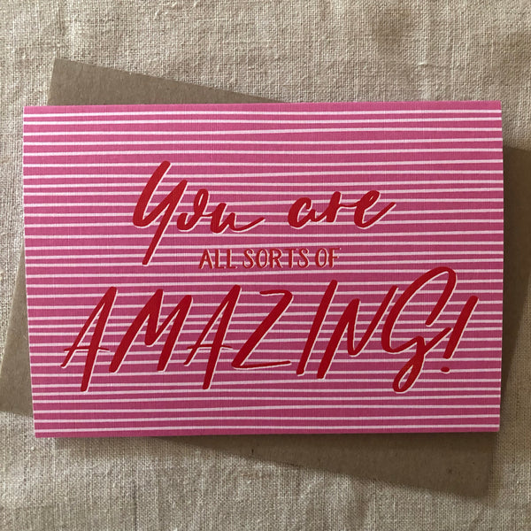 All Sorts of Amazing (Pink) Card