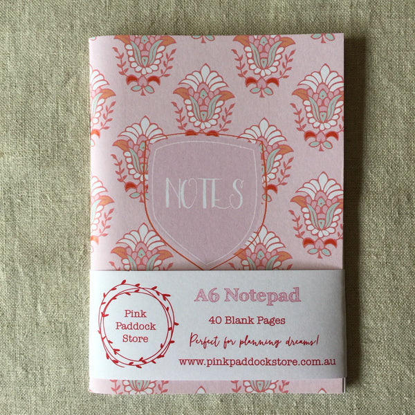 A6 Pink Notes Notebook