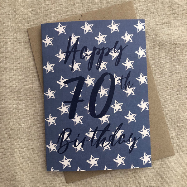 Super Star 70th Birthday Card