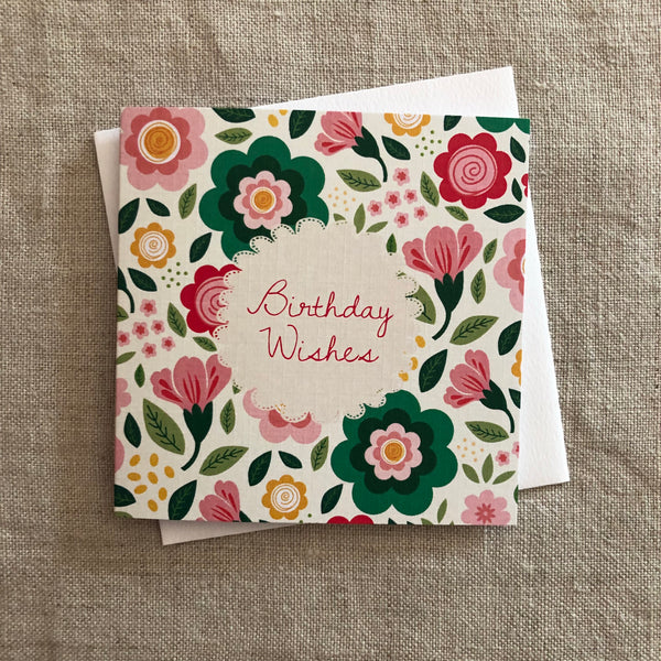 Petit Floral Birthday Wishes Card