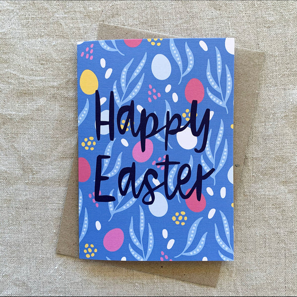 A6 Happy Easter Eggs Card