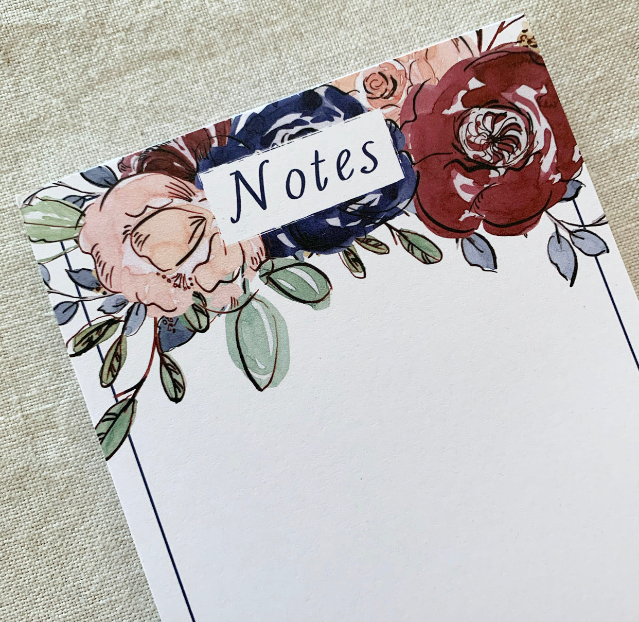 Rose 'Notes' DL Notepad