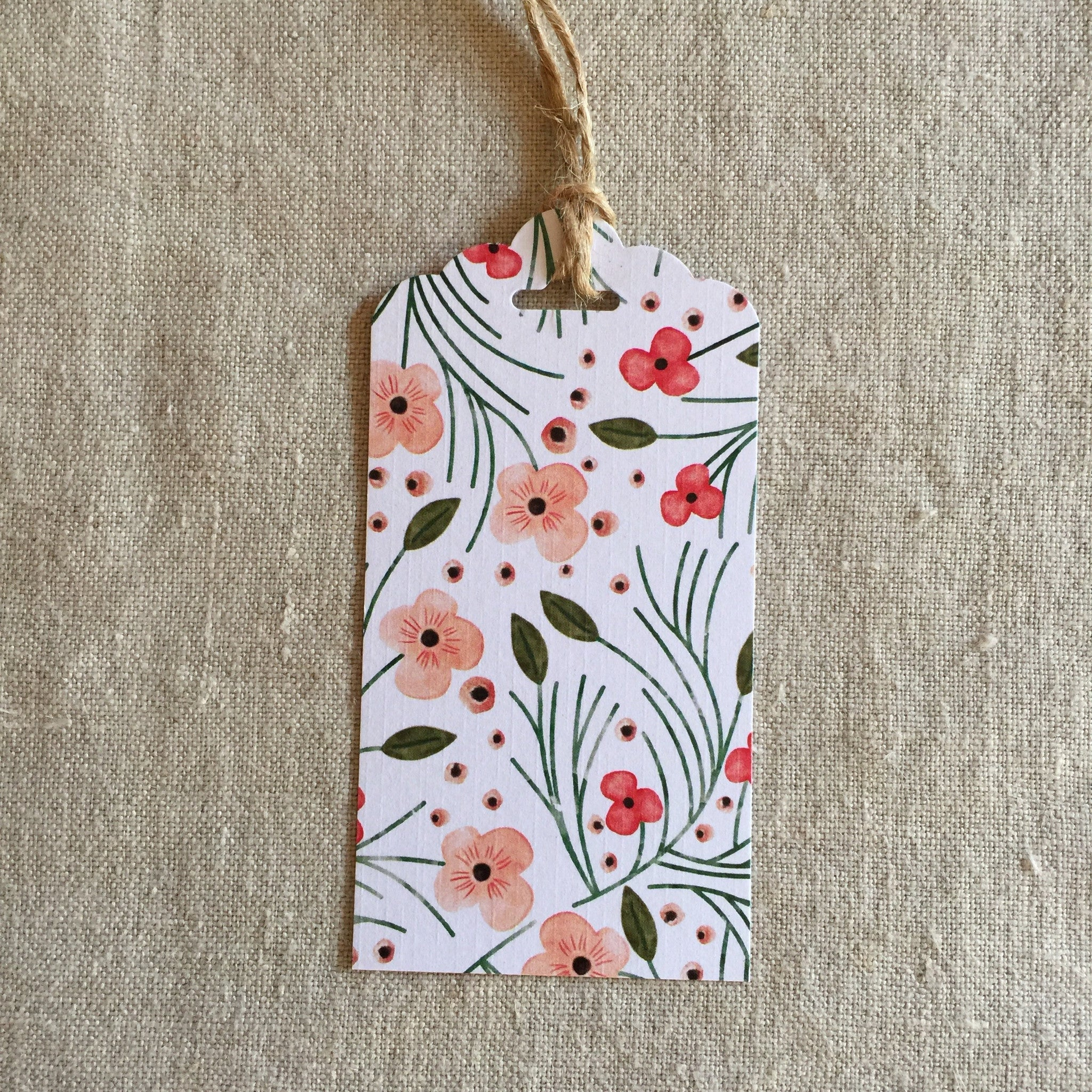 Floral Gift Tag