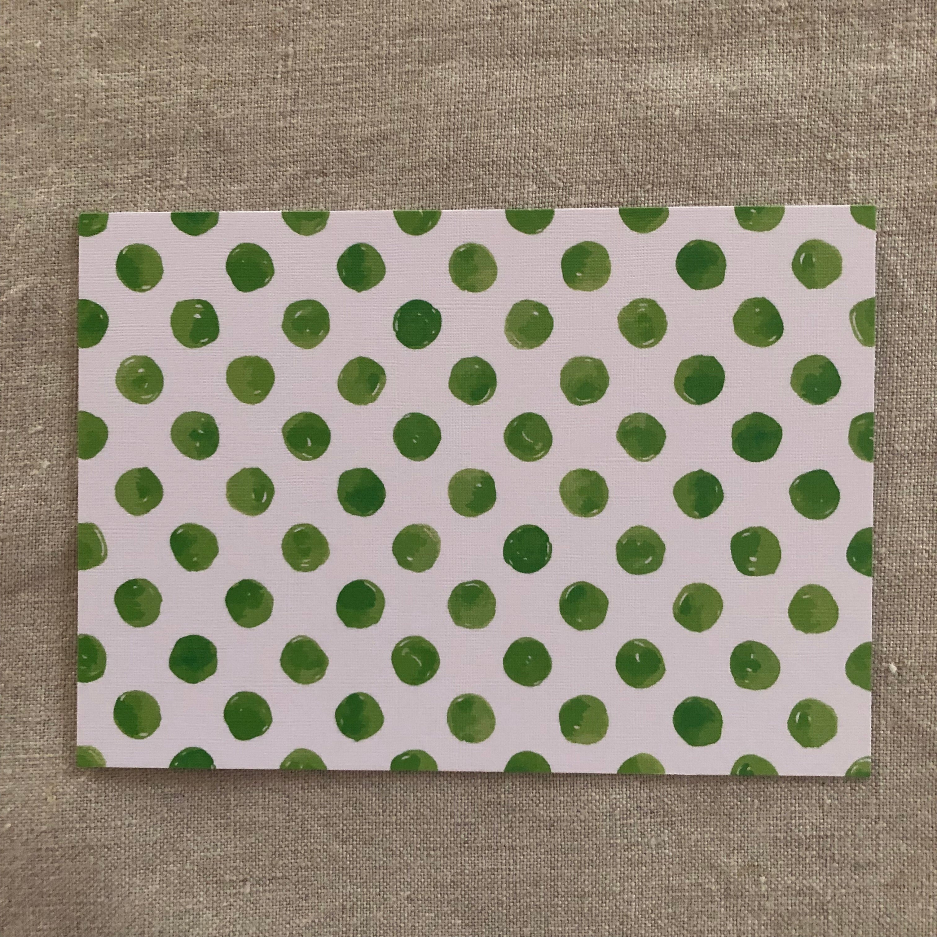 Green Spots Notecard- Pack of Six