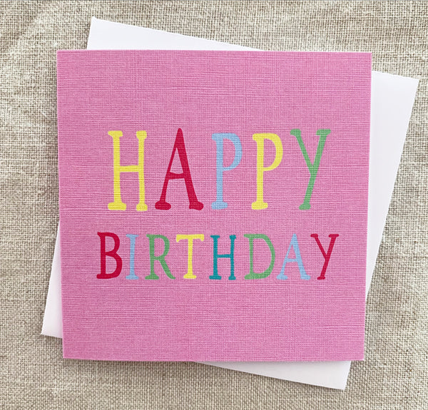 Petit Pink Rainbow Birthday Card