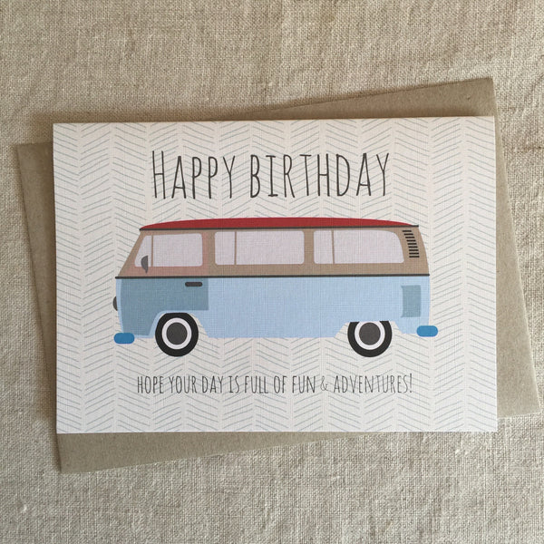 Happy Birthday Campervan Card