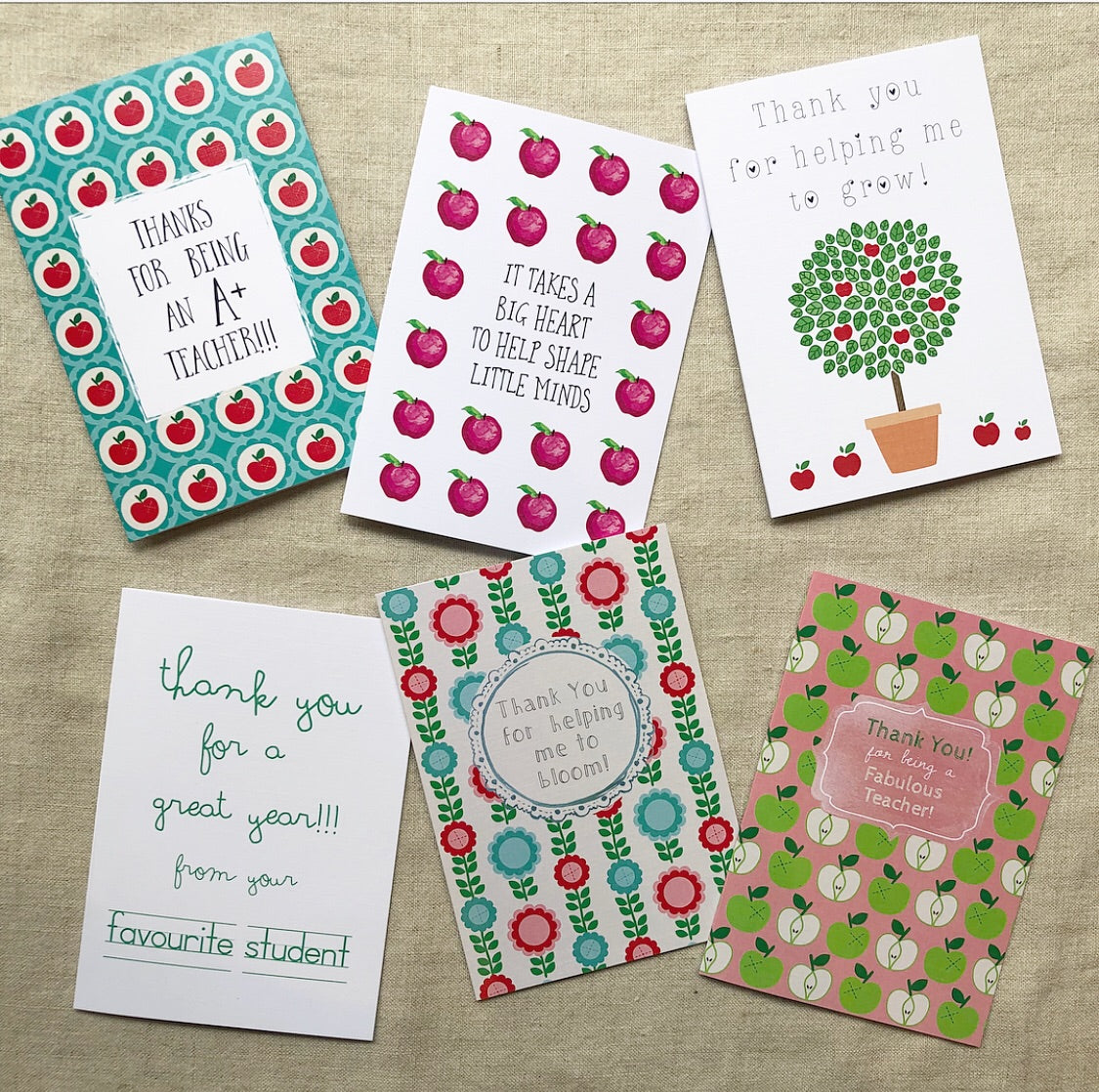 Teacher Notepad & Card Gift Packs