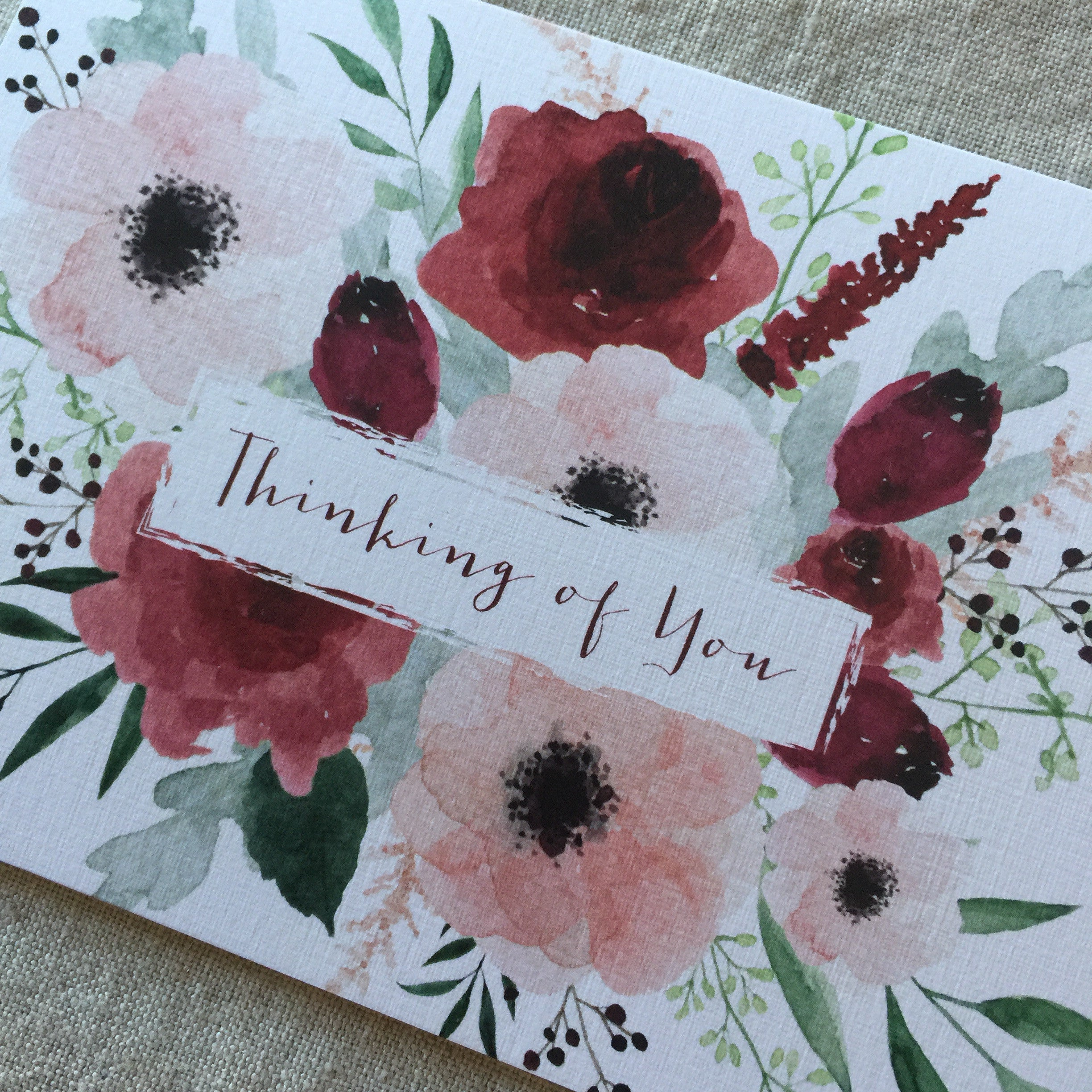 Peony Rose Thinking of You Card