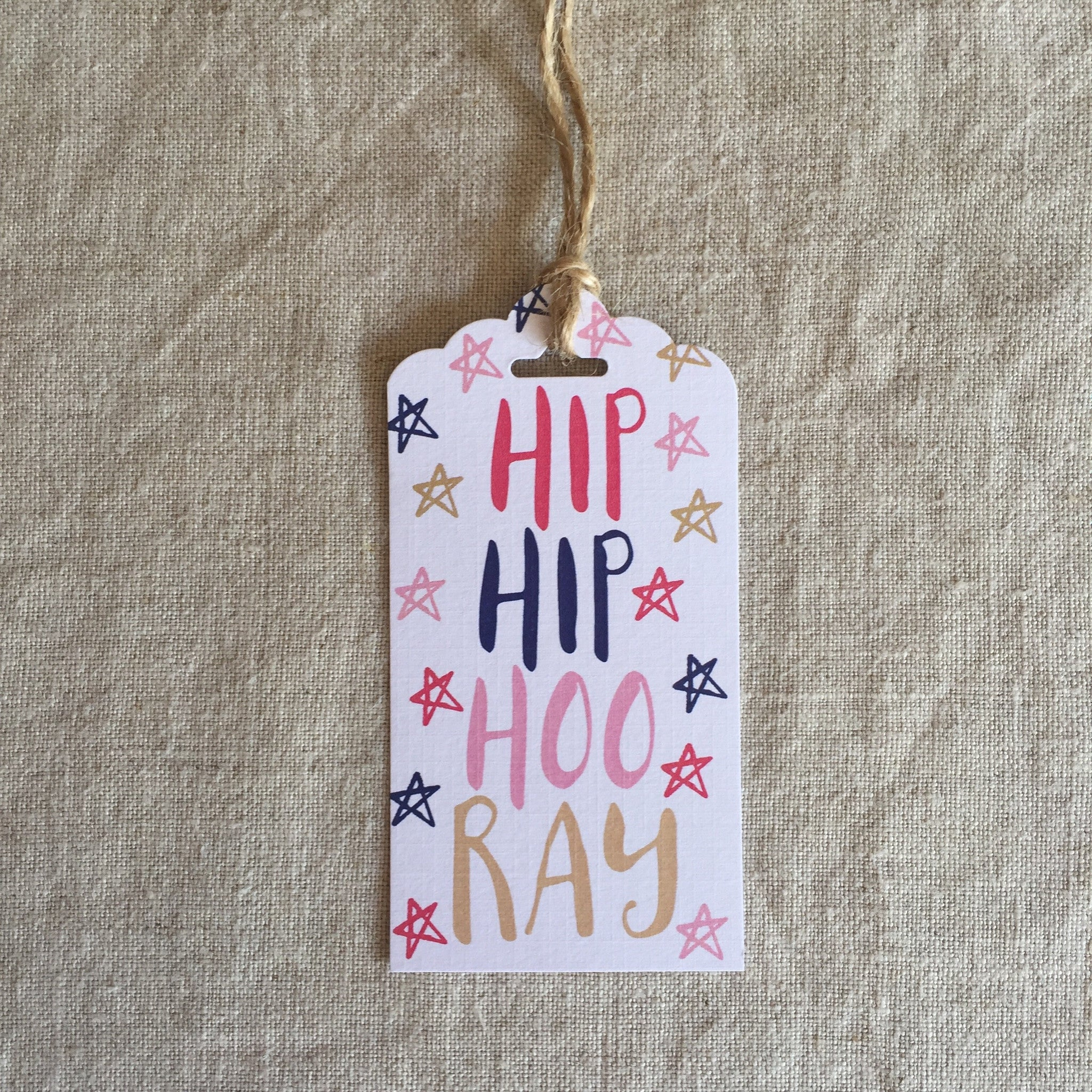 Let's Party Hip Hip Hooray Gift Tag