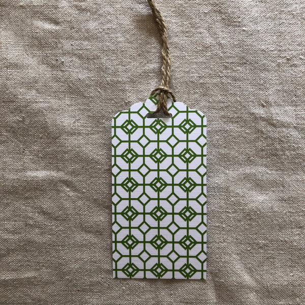 Christmas Green Mosaic Gift Tag