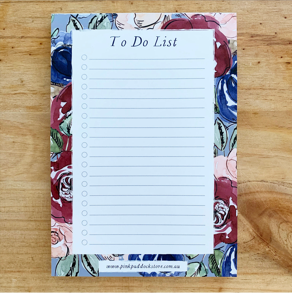 Rose 'To Do List' A5 Notepad
