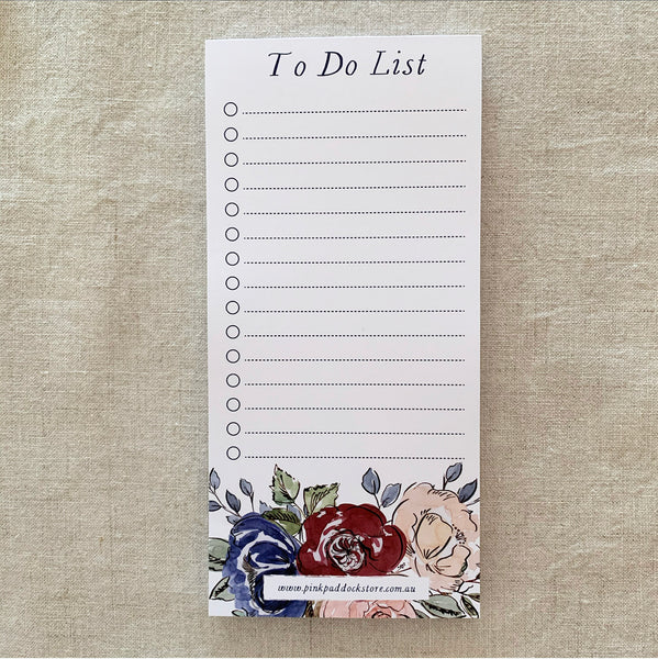 Rose 'To Do List' DL Notepad
