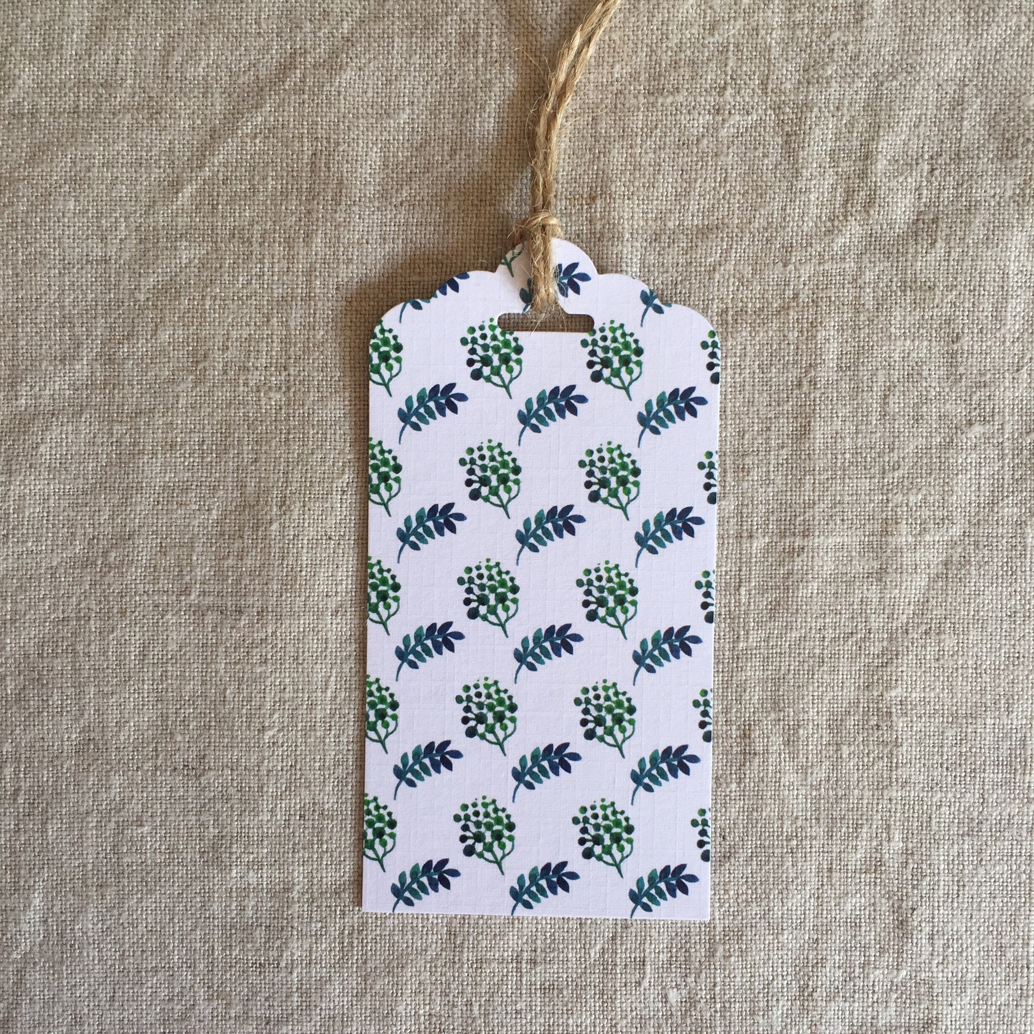 Blue Green Garden Gift Tag