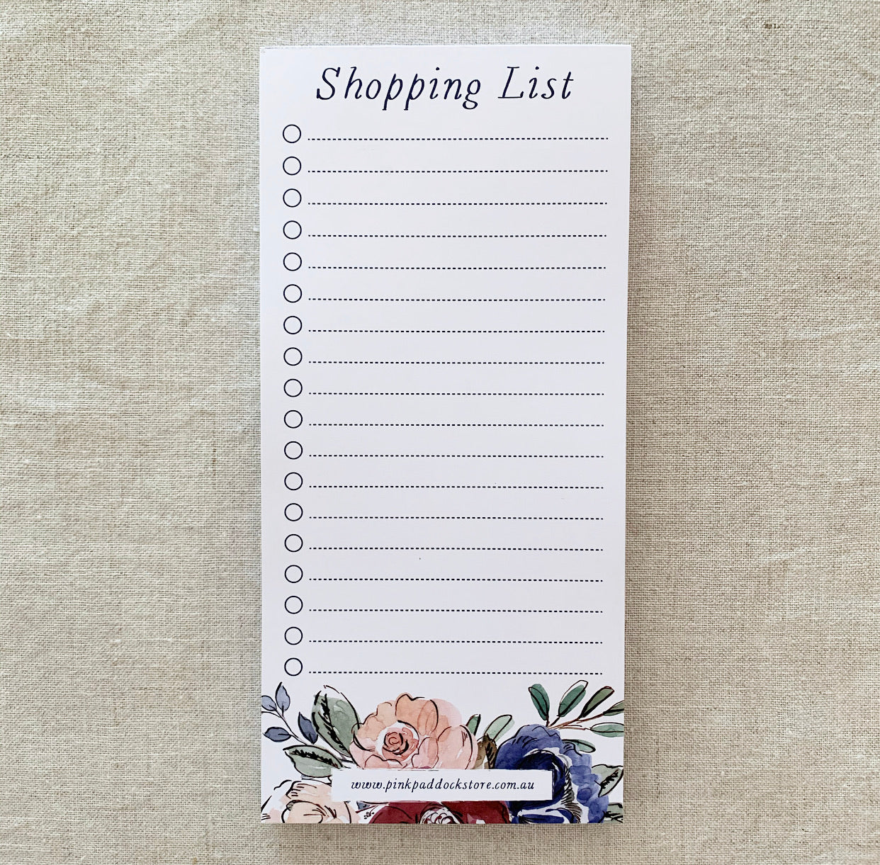 Rose 'Shopping List' DL Notepad