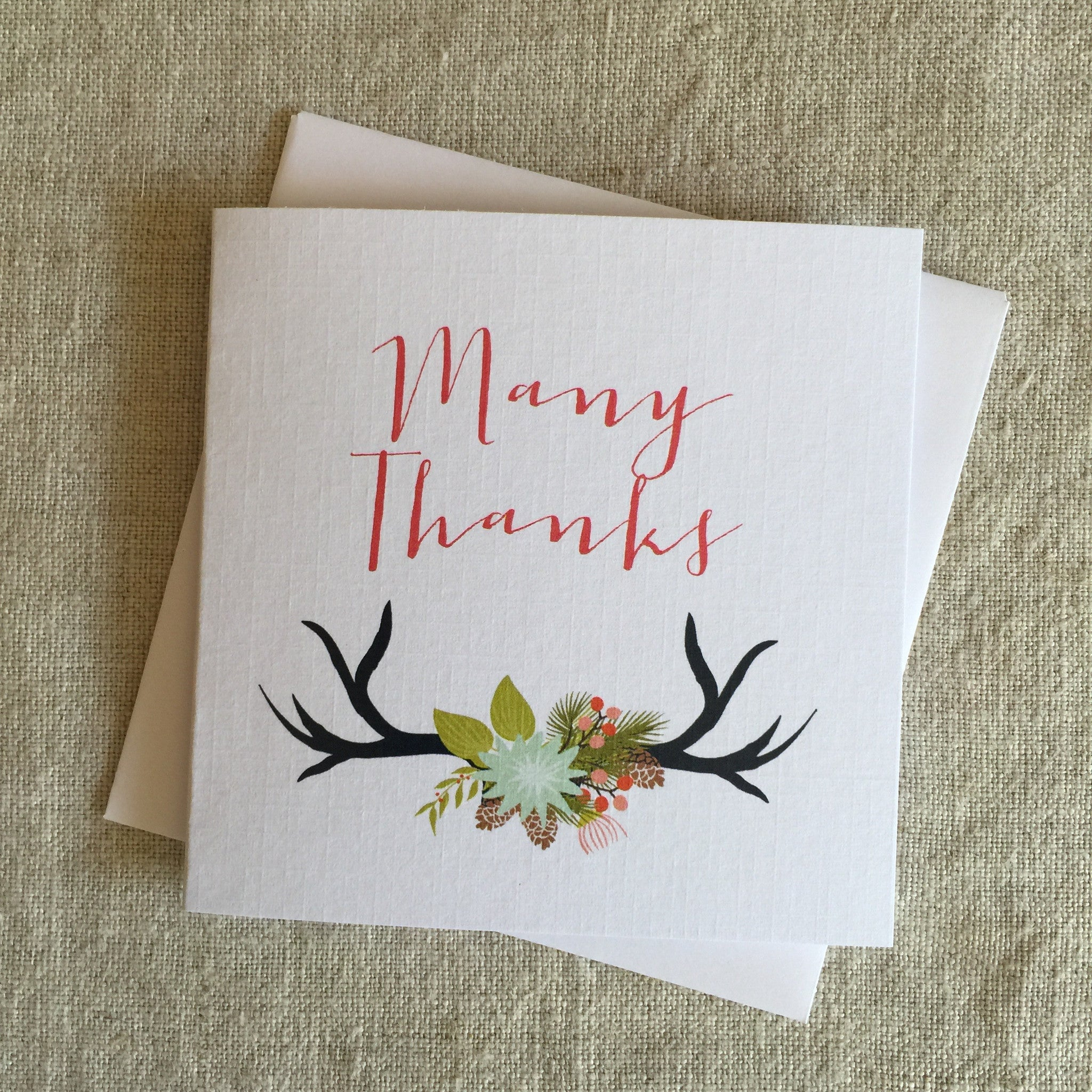 Petit Antler Thank You Card