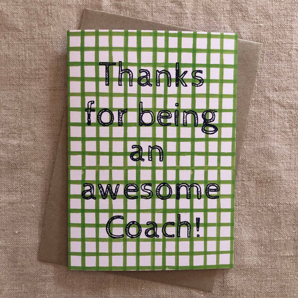 Awesome Coach Card