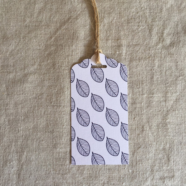 Blue Leaf Gift Tag