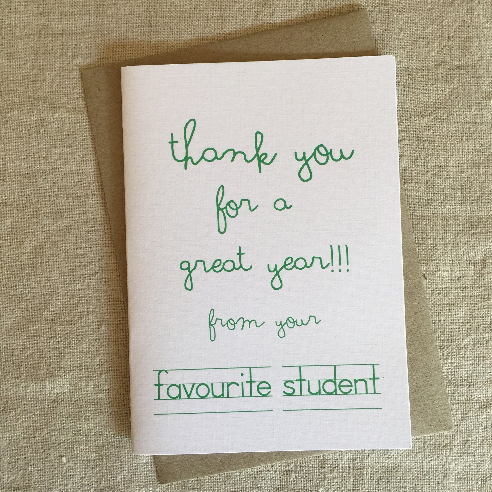 Favourite Student Card