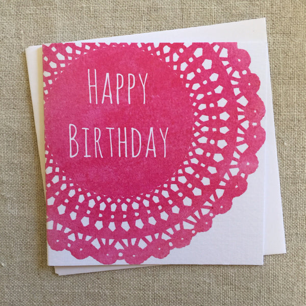 Petite Birthday Doillie Card