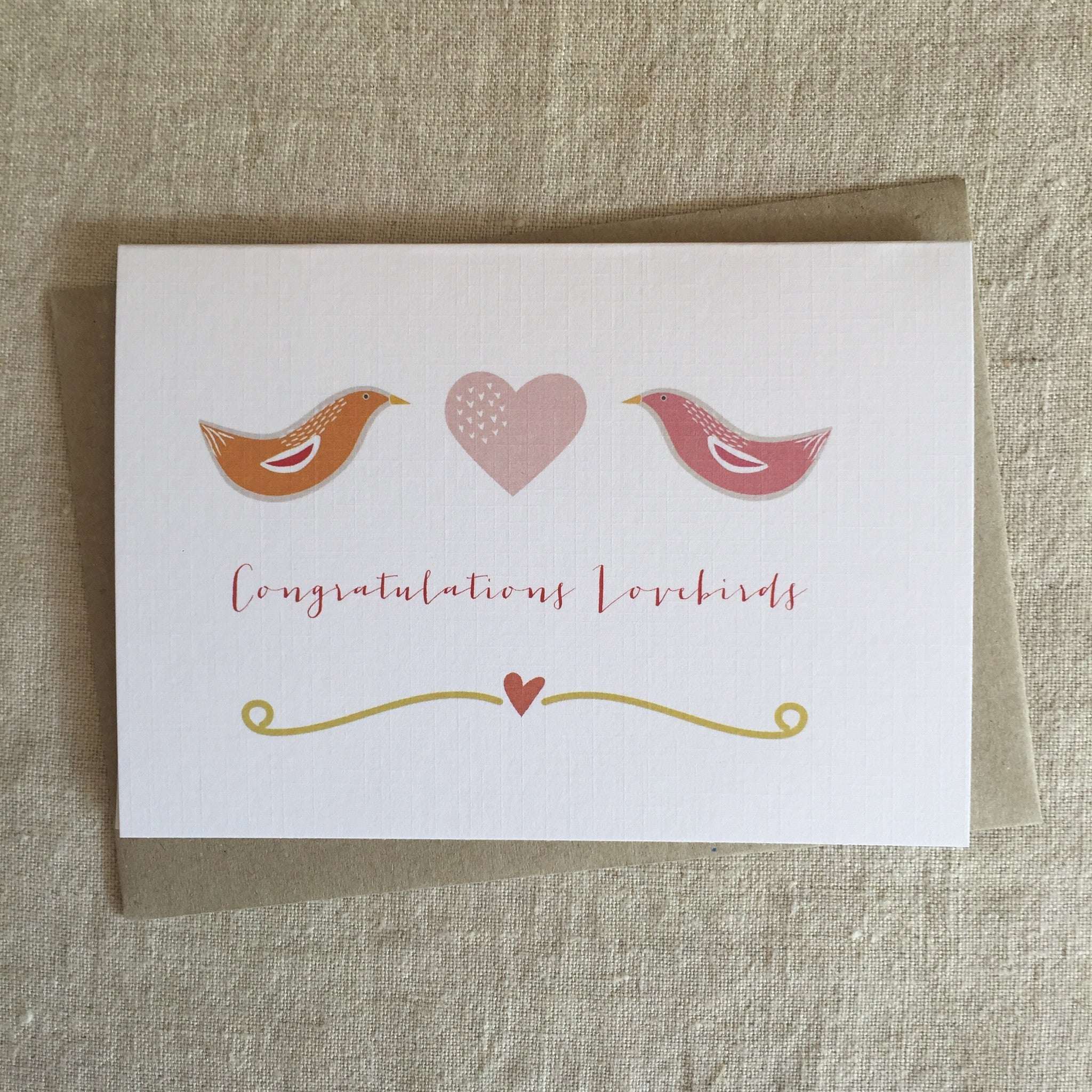 Congratulations Lovebirds Card