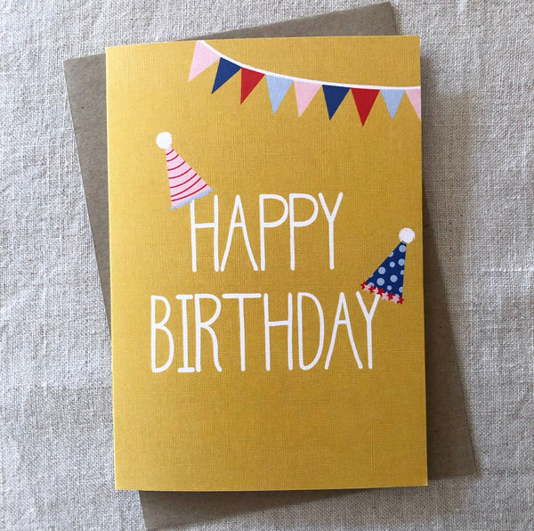 Party Hats Birthday Card