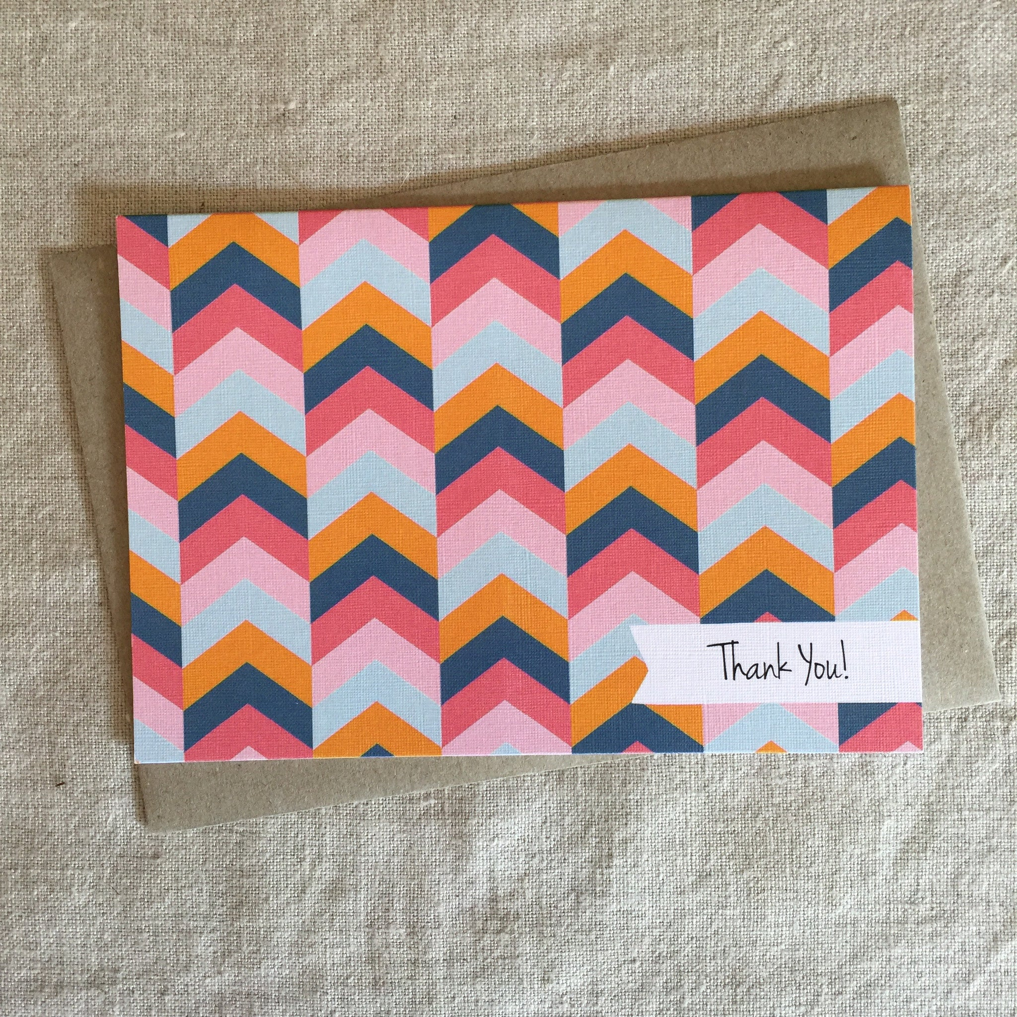 Geo Thank You Herringbone Card