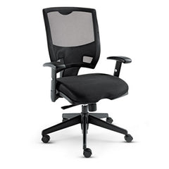 Alera® Epoch Series Fabric Mesh Multifunction Chair, Black