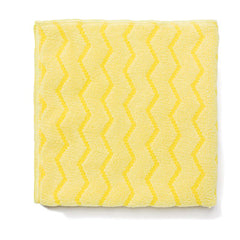 Rubbermaid® Commercial Microfiber Cleaning Cloths, Microfiber, 16 x 16, Yellow, 12/Carton