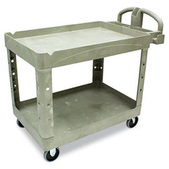 Rubbermaid® Commercial Heavy-Duty Utility Cart Two-Shelf, 25 1/4w x 44d x 39h, Beige
