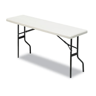 Iceberg IndestrucTable Too™ 1200 Series Rectangular Folding Table 60w x 18d x 29h, Platinum Tables-Folding & Utility - Office Ready