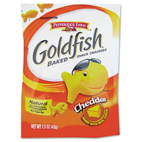 Pepperidge Farm® Goldfish® Crackers Cheddar, Single-Serve Snack, 1.5oz Bag, 72/Carton Food-Snack - Office Ready