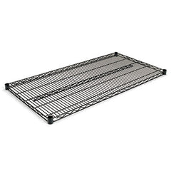 Alera® Extra Wire Shelves, 48w x 24d, Black, 2 Shelves/Carton