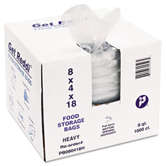 Inteplast Group Food Bags, 8 x 4 x 18, 8-Quart, 1.00 Mil, Clear, 1000/Carton