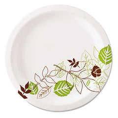 "Dixie® Pathways® Soak-Proof Shield® Mediumweight Paper Plates 6 7/8"", Grn/Burg, 1000/Ct"