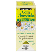 Beverages-Tea Bag - Bigelow® Single Flavor Tea Bags Cozy Chamomile, 28 Bags/Box - Office Ready - 1