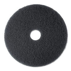 "3M™ High Productivity Floor Pads 7300, 17"" Diameter, Black, 5/Carton"