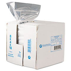 Inteplast Group Food Bags 8 x 4 x 18, 8-Quart, 0.68 Mil, Clear, 1000/Carton