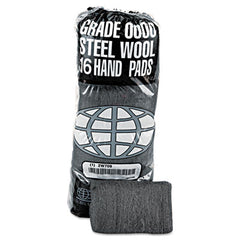 GMT Industrial-Quality Steel Wool Hand Pads, #0000 Super Fine, 16/Pack, 192/Carton