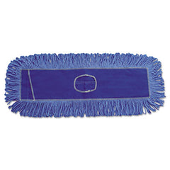 Boardwalk® Blue Dust Mop Head, Dust, Looped-End, Cotton/Synthetic Fibers, 18 x 5, Blue