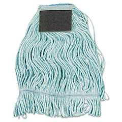 Boardwalk® Loop-End Mop with Scrub Pad Loop-End, Cotton With Scrub Pad, Medium, 12/Carton