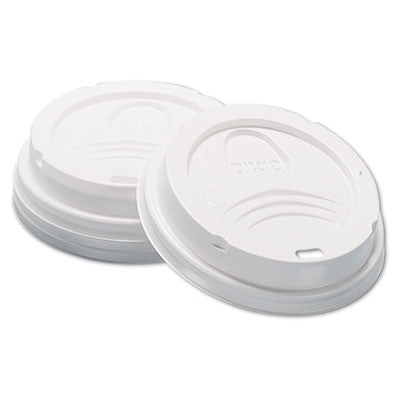 Dixie® Sip-Through Dome Hot Drink Lids 8oz Cups, White, 100/Sleeve, 10 Sleeves/Carton Cup Lids-Hot Cup Dome - Office Ready